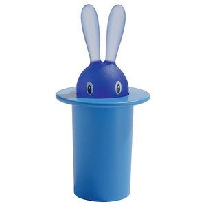 Zahnstocherbehälter blau Magic Bunny Alessi