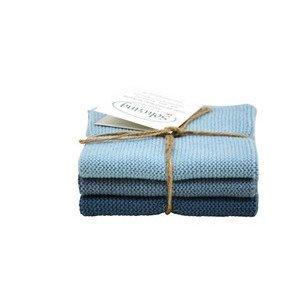 Wischtücher 3er-Pack rustikales Blau Solwang