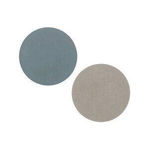 10 cm Untersetzer circle hellblau/hellgrau LINDDNA