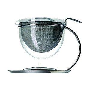 Teekanne Filio,runder Griff Integriertes Stövchen Mono