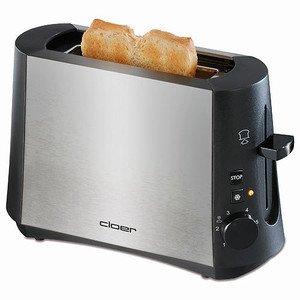 Single-Toaster Alu matt / schwarz 600 Watt Cloer