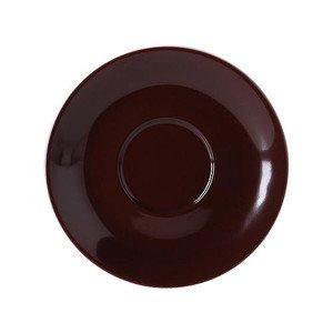 "Jumbo-Untertasse ""Solid Color Kaffeebraun"" rund Dibbern"