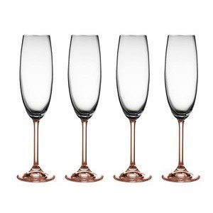 Champagnerglas 4er-Set 0,22 l rosa Bitz