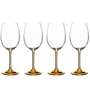 Weinglas 4er-Set 0,45 l orangegelb Bitz