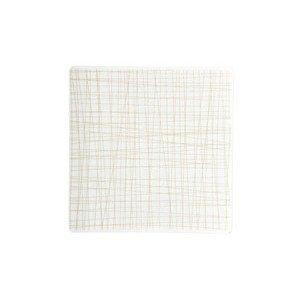 Teller quadr. 17 cm flach Mesh Line Cream Rosenthal