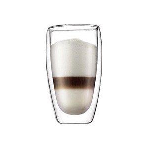 Latte Macchiato-Glas Pavina 2er-Set 0,45l doppelwandig Bodum