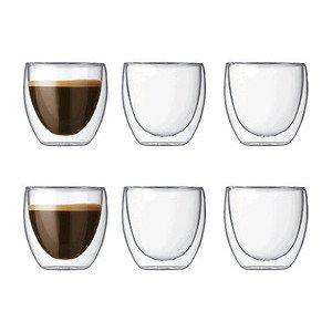 Espresso-Glas Pavina 0,08l doppelwandig 6er Set -- Bodum