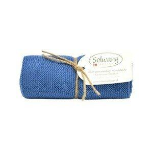 Handtuch staubig blau Solwang