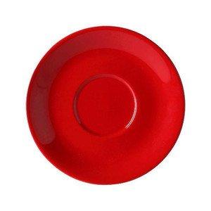 Jumbountertasse Solid Color Signalrot rund Dibbern