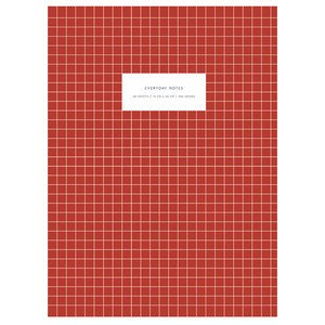 Large Softcover Notebook KARTOTEK // Check Brick red Mark's Europe