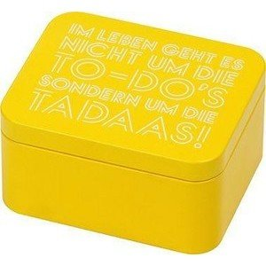 Geschenkbox 12 cm Colour Splash gelb RBV Birkmann
