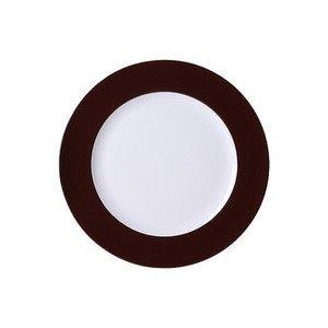 "Teller 31 cm ""Solid Color Kaffeebraun"" flach Dibbern"