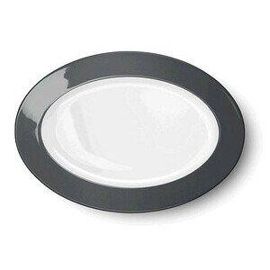 Platte oval 33 cm Solid Color anthrazit Dibbern