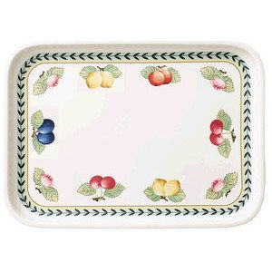 Servierplatte, Top rechteckig 3 French Garden Backformen Villeroy & Boch