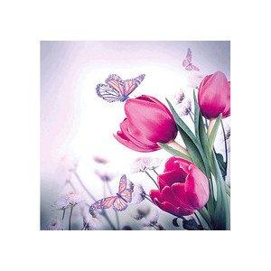 Servietten 33x33 cm Butterfly & Tulips Ambiente