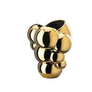Vase 26 cm Skum gold titanisiert Rosenthal