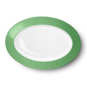 "Platte 33 cm ""Solid Color Apfelgrün"" oval Dibbern"