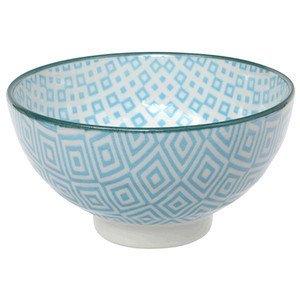 Rice Bowl 12x6,5cm Geo Eclectic Light Blue CNB Tokyo design studio