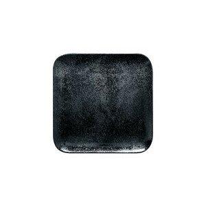 Teller quadr. 24x24x1,7cm Fusion Karbon schwarz RAK