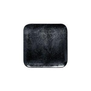 Teller quadratisch 24x24 cm H.1,7 cm Karbon RAK