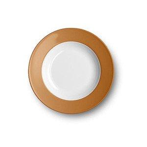 Teller tief 23cm Fahne Solid Color karamell Dibbern