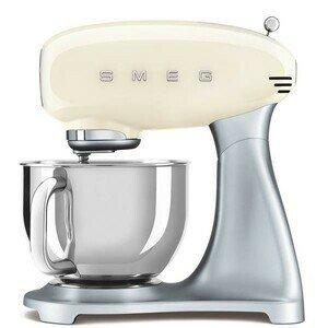 Küchenmaschine 50's Style mit Edelstahlschüssel creme silber smeg