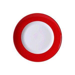 "Teller 26 cm ""Solid Color Signalrot"" flach Dibbern"