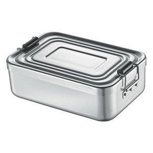 Lunchbox gross silber 23x15x7 cm Aluminium Küchenprofi