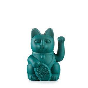 Winkekatze Lucky Cat/Green Kunststoff, ohne Batterie Donkey