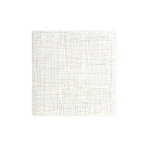 Teller quadr. 22 cm flach Mesh Line Cream Rosenthal