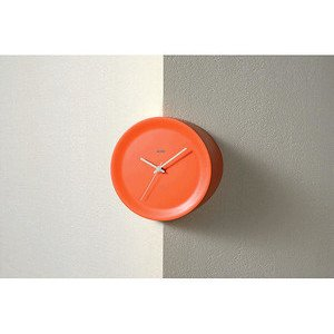 Kantenuhr 21 cm orange Ora Out Alessi