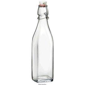 0,50 ltr Glasflasche Swing eckig mit Bügelverschluss Bormioli