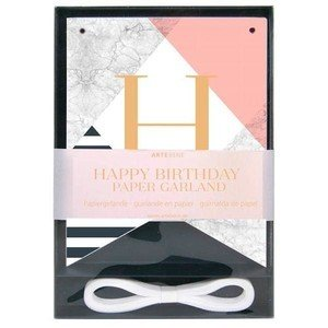 Papiergirlande 3m Happy Birthday Artebene