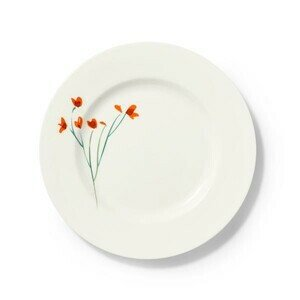 Teller flach 28 cm Impression Blume rot Dibbern