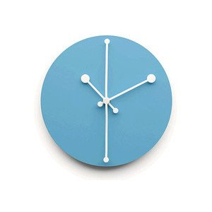 Wanduhr aus Stahl Türkis Dotty Clock Alessi
