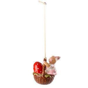 Ornament Korb mit Mädchen 6 cm Bunny Family Villeroy & Boch