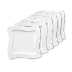 Frühstücksteller-Set 6-tlg. 24 cm quadratisch NewWave Villeroy & Boch