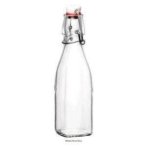 0,25 ltr Glasflasche Swing eckig mit Bügelverschluss Bormioli