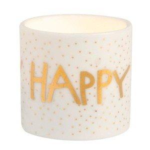 Teelichthalter Happy Birthday 4,5 cm Helle Freude Räder