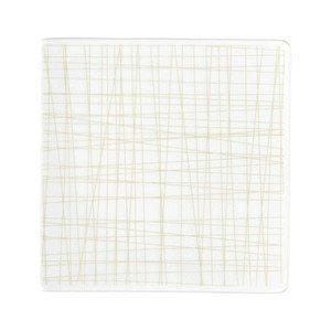 Teller quadr. 14 cm flach Mesh Line Cream Rosenthal
