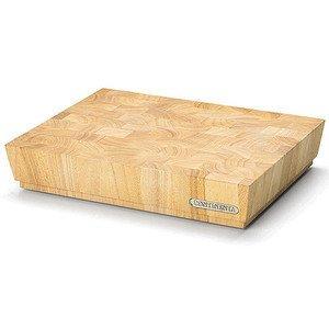 Hackblock 40x30 cm Stirnholz Gummibaum Continenta