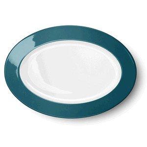 Platte oval 29cm Solid Color petrol Dibbern