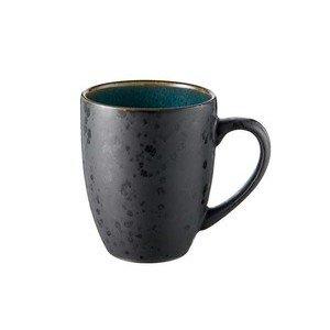 Henkelbecher 0,3 l schwarz/grün Bitz