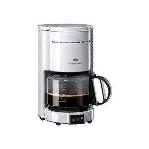 KF47 Kaffeeautomat weiss 10 Tassen Braun
