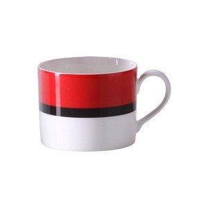 """Kaffee-Obertasse 250 ml """"South Beach Rot Schwarz"""" zylindrisch - Dibbern"""