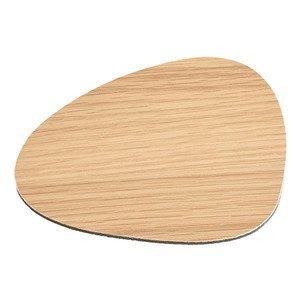 11x13cm Untersetzer Curve Wood oak/Bull black LINDDNA