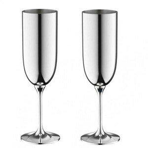 Champagnerkelch-Set 2-tlg Dante 90 g versilbert Robbe & Berking
