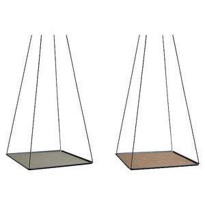 29x29 cm Hängetablett schwarz Pendulum Square S Nupo grün/natur LINDDNA