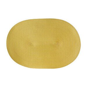 Tischset oval 45x31 cm sonnengelb Continenta