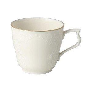 """Kaffee-Obertasse 210 ml mit Relief """"Sanssouci Elfenbein Gold"""" Rosenthal"""